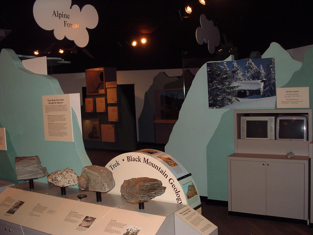 Inside the park museum