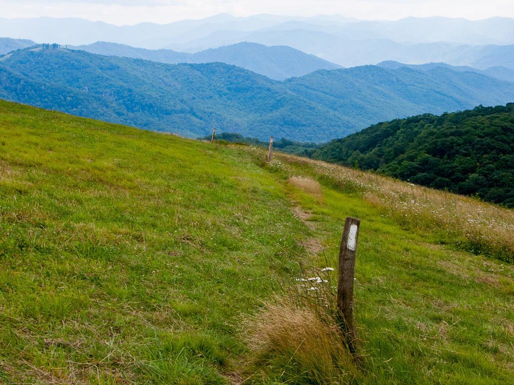 Appalachian Trail on Max Patch Mountain