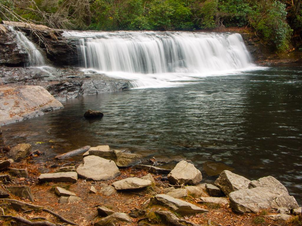 Hooker falls, on the Little River in DuPont State Forest