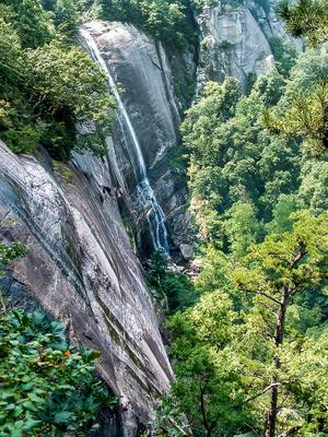 Hickory Nut Falls in late summer