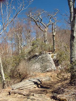 Mount Pisgah trail on the ridge