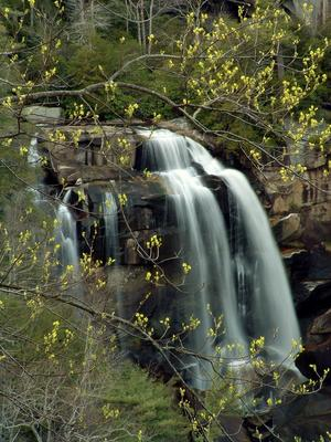 Whitewater Falls, one of Nantahala National Forest's most recognizable places, and a short hike accessible to all.