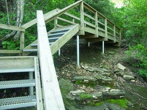 Staircase on the Whiteside Mountain trail