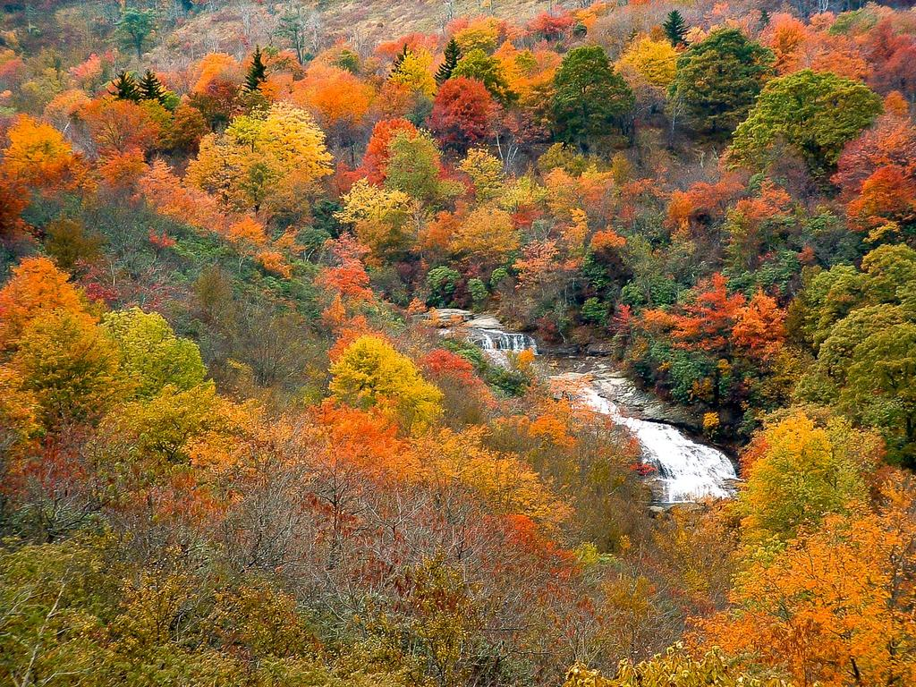 Second Falls in autumn color.