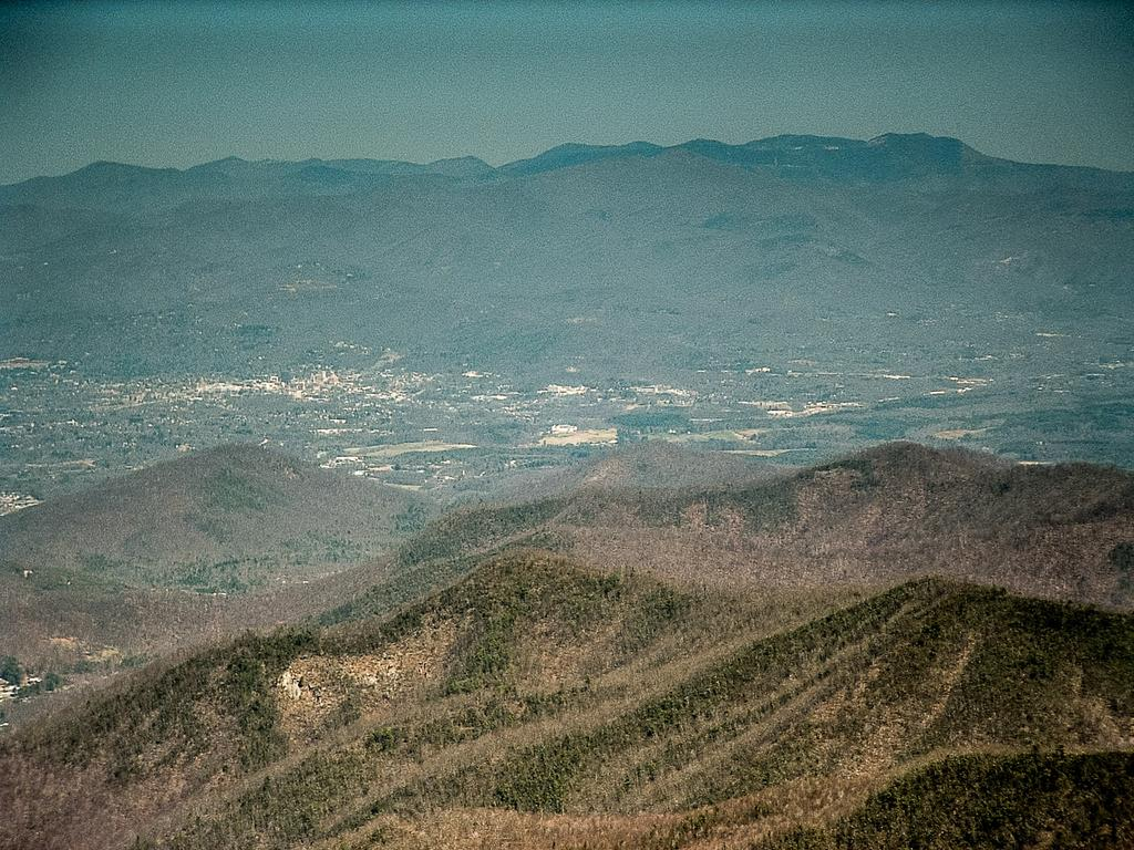 Asheville: surrounded by wilderness from some perspectives, yet recreation opportunities exist even within city limits.