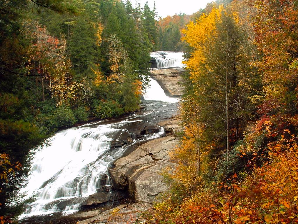 Triple Falls in Fall Color, Dupont State Forest