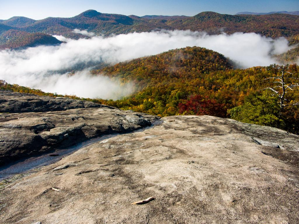 View from Looking Glass Rock