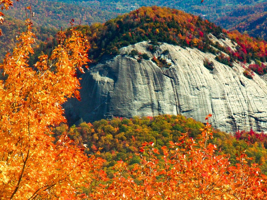 Looking Glass Rock in Fall Color