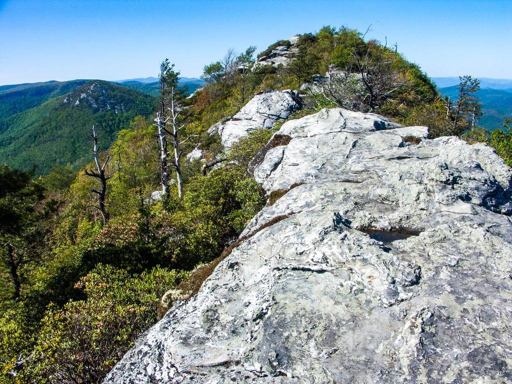 View from the summit of Table Rock, on the edge of Linville Gorge