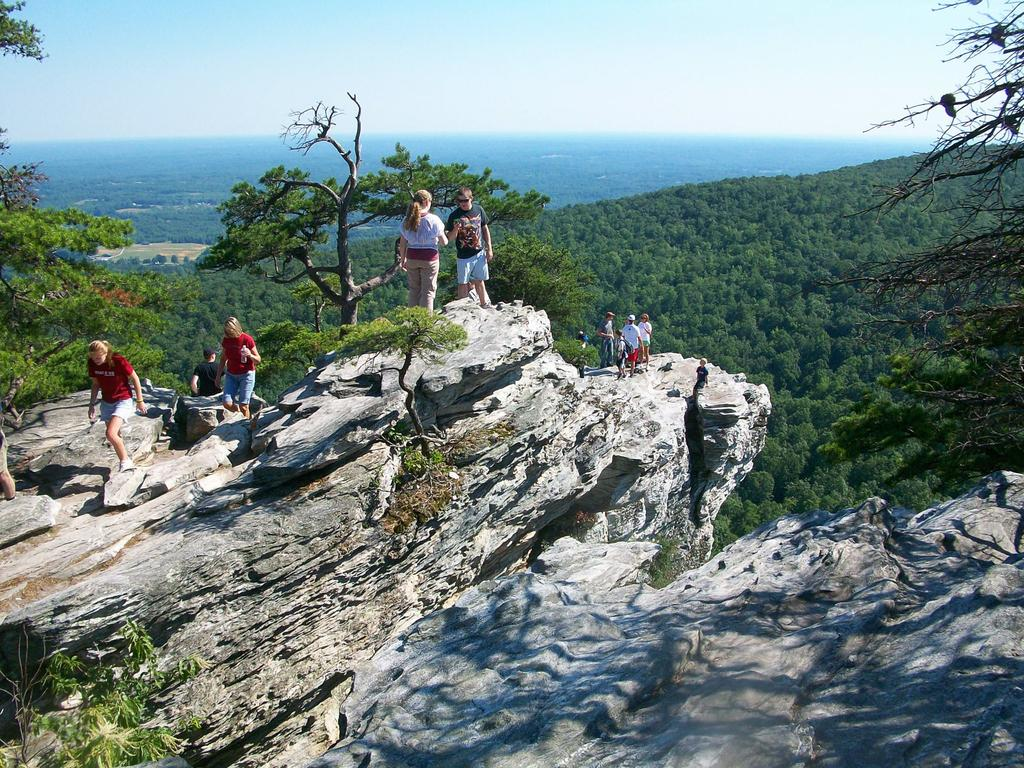 Enjoying the summmit of Hanging Rock on a hot summer afternoon.