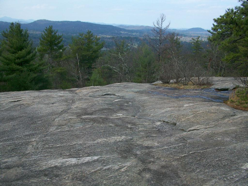 View from the summit of Glassy Mountain on the property.