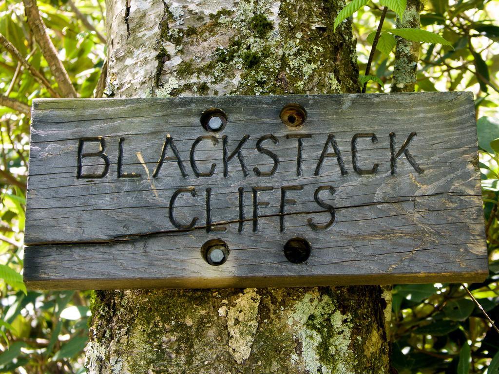 Sign for Blackstack Cliffs