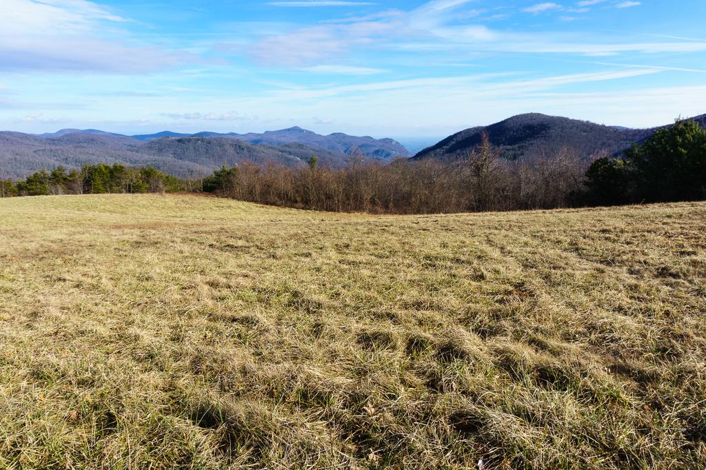 View from Blue Ridge Pastures east toward the Hickory Nut Gorge and Lake Lure