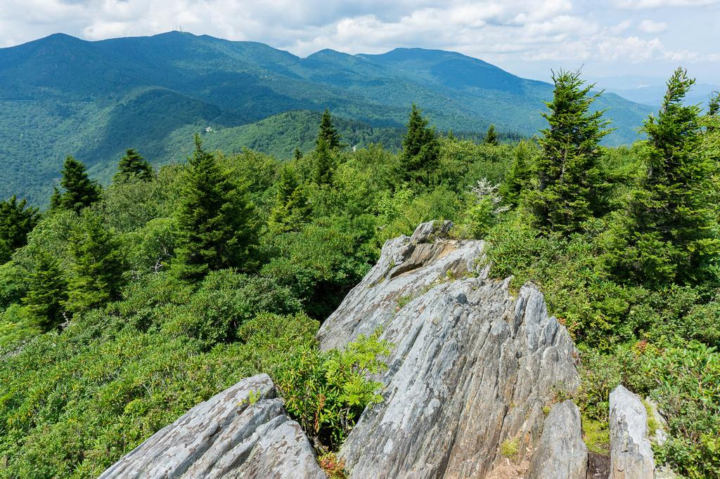 View of Mount Mitchell and the Black Mountains from nearby Blue Ridge Pinnacle.