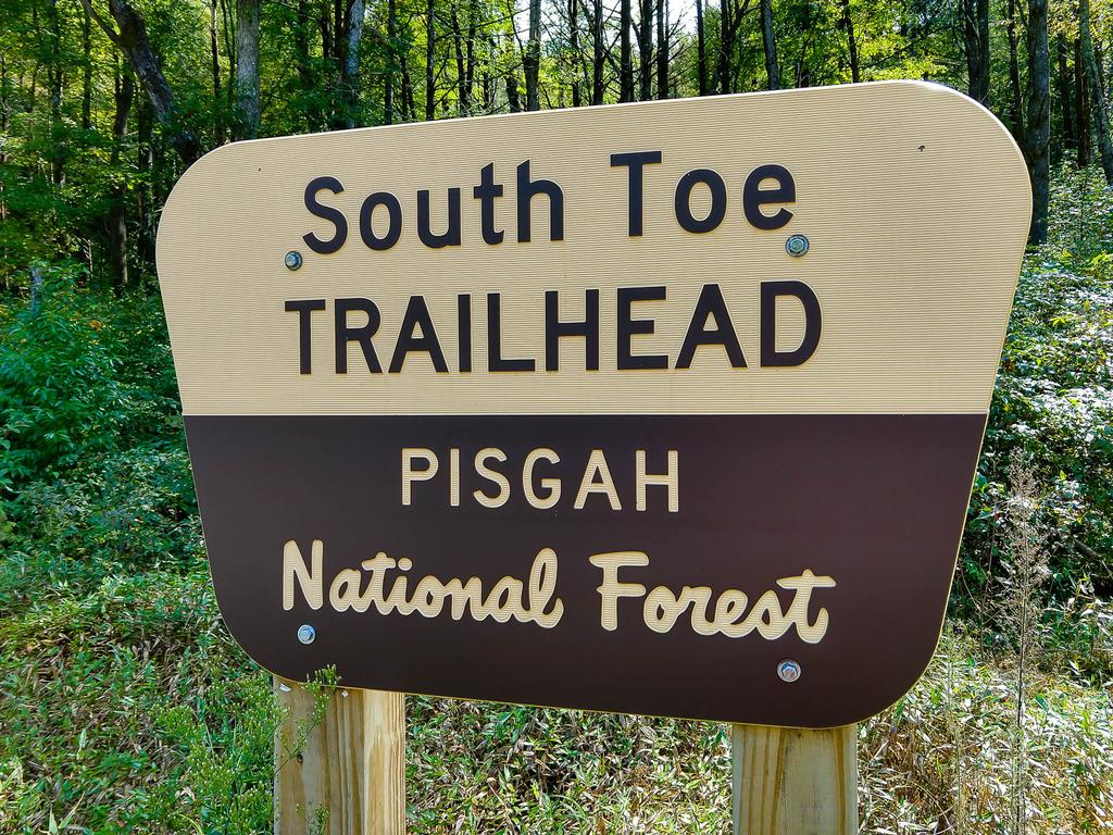 South Toe Trailhead Sign