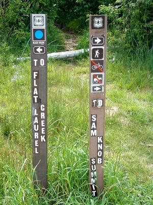 Sam Knob Trail Sign