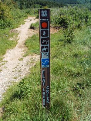 Flat Laurel Creek Trail Sign