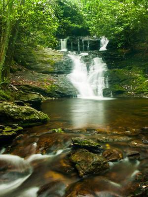 Big Laurel Falls - Nantahala National Forest, NC