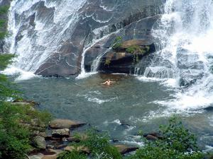 Swimming at High Falls in Summer