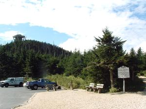 View of the Summit from the Parking Area