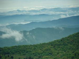 Ridges from Mount Pisgah