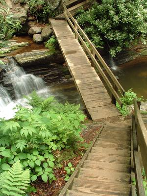 Bridge over Skinny Dip Falls