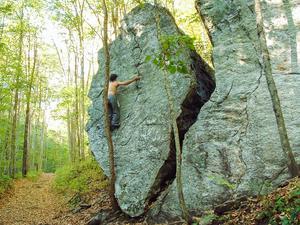 Split Rock in Pinnacle Park