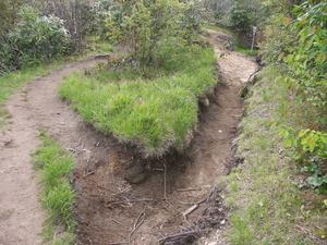 Extremely Eroded Trail