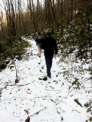 Hiking the Big East Fork Trail in Snow