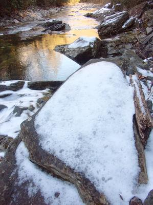 Snow Covered Rock on the Big East Fork