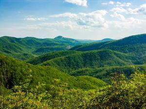 View of Cedar Rock Mountain