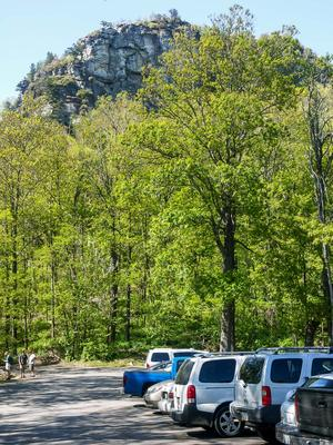 Cliffs above Table Rock Parking Lot
