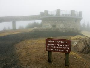 Mount Mitchell Summit in Fog