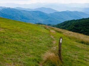 Appalachian Trail on Max Patch Mountain