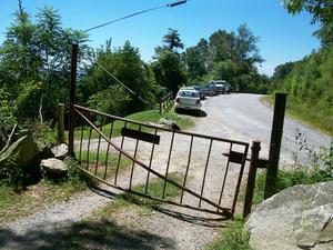 Gate and Parking at Bearwallow Mountain
