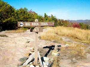 Big Rock - Cedar Rock Trail Intersection