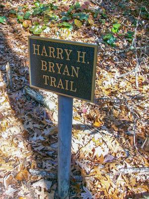 Harry H. Bryan Trail Sign