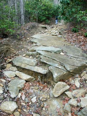 Rocky Section of Stone Mountain Trail