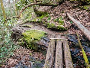 Log Bridge on North Slope