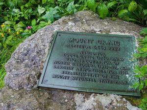 Mount Craig Plaque