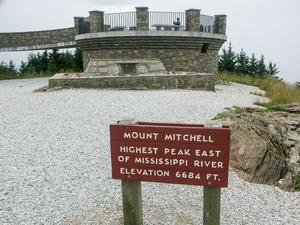 Mount MItchell Sign and Observation Platform