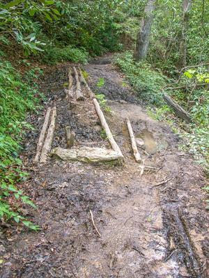 Muddy Section of the Butter Gap Trail