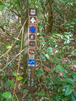 Butter Gap trail sign