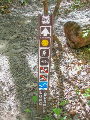 Long Branch trail sign