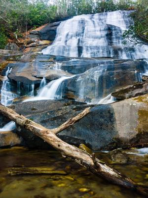 Cove Creek Falls, during warm winter weather and good water flow.