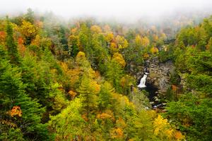 Linville Falls from Erwin's View in Fall