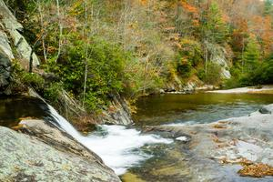 Hunt-Fish Falls and Pool in Fall Color