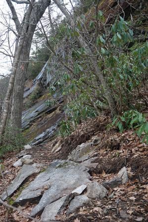 Wildcat Rock Trail Below Cliffs