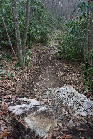 Crushed Rocks to Build Wildcat Rock Trail