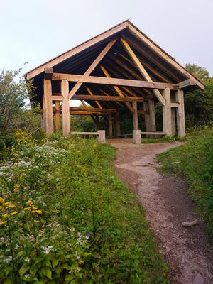 Craggy Gardens Shelter at Sunset